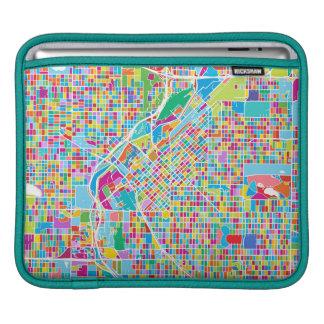 Capa Para iPad Mapa colorido de Denver