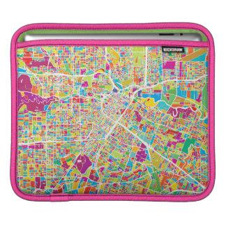Capa Para iPad Mapa de néon de Houston, Texas  
