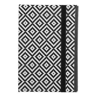 Capa Para iPad Mini 4 Bloco asteca Rpt Ptn do símbolo preto & branco II