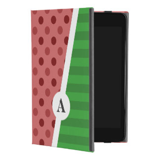 Capa Para iPad Mini 4 Bolinhas da melancia e monograma da listra