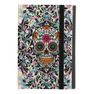 Capa Para iPad Mini 4 Crânio floral retro colorido do açúcar &
