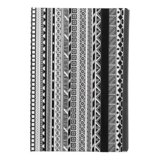 Capa Para iPad Mini 4 Design asteca branco preto bonito dos padrões