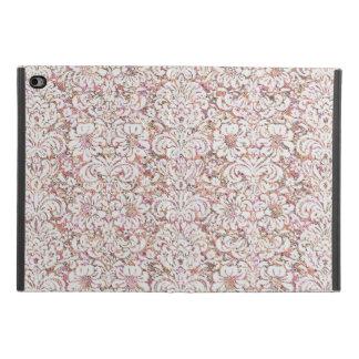 Capa Para iPad Mini 4 Design floral branco cor-de-rosa bonito do vintage