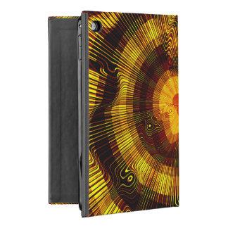 Capa Para iPad Mini 4 Espiral do ouro amarelo