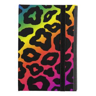 Capa Para iPad Mini 4 Impressão do leopardo do arco-íris