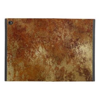Capa Para iPad Mini 4 Laranja rústica textura afligida do ouro