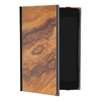 Capa Para iPad Mini 4 Madeira elegante No.3 do falso de Brown