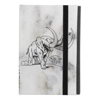 Capa Para iPad Mini 4 Mármore cinzento do falso & ilustração preta dos