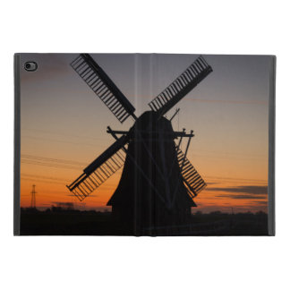 Capa Para iPad Mini 4 Silhueta do moinho de vento de Holland