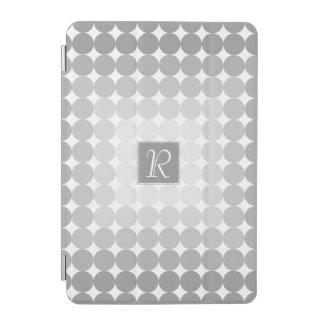 Capa Para iPad Mini A cinza moderna circunda o monograma