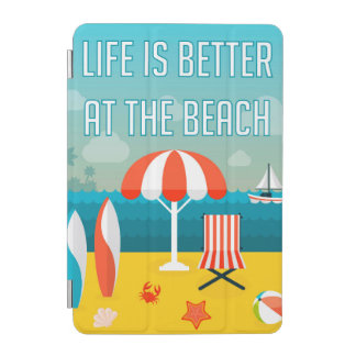 Capa Para iPad Mini A vida é melhor na praia