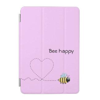 Capa Para iPad Mini Abelha positiva feliz no rosa dos desenhos
