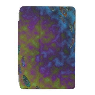 Capa Para iPad Mini Abstrato cósmico roxo verde