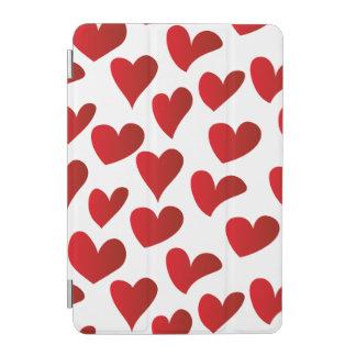 Capa Para iPad Mini Amor vermelho pintado teste padrão do coração da