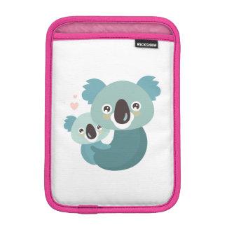 Capa Para iPad Mini Aperto doce da mãe e do bebê do koala dos desenhos