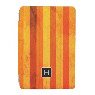 Capa Para iPad Mini Aqueça o monograma resistido das listras do