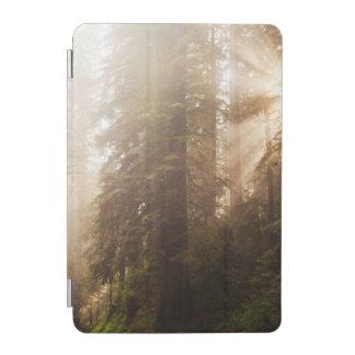 Capa Para iPad Mini Árvores da sequóia vermelha na névoa da manhã com