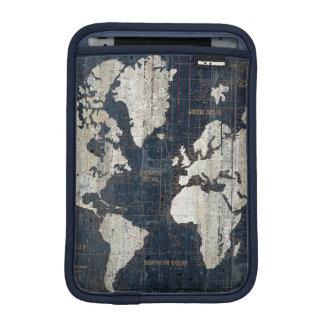 Capa Para iPad Mini Azul do mapa de Velho Mundo