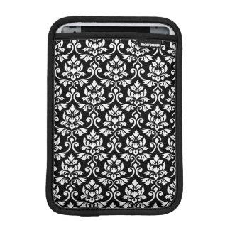 Capa Para iPad Mini Branco da cor damasco de Feuille no preto