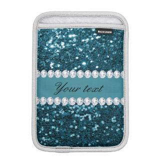 Capa Para iPad Mini Brilho azul e diamantes do falso da cerceta escura