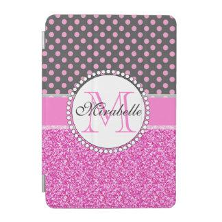 Capa Para iPad Mini Brilho cor-de-rosa e bolinhas cor-de-rosa nas