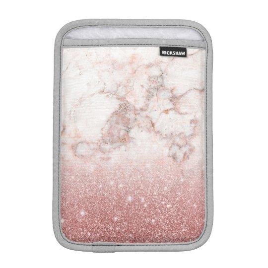 Capa Para iPad Mini Brilho cor-de-rosa Ombre de mármore branco do ouro