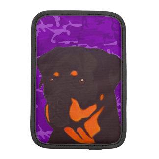 Capa Para iPad Mini Camo roxo com Rottweiler