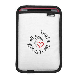 Capa Para iPad Mini Confiança no SENHOR com todo seu coração