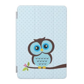 Capa Para iPad Mini Coruja azul bonito