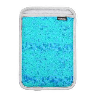 Capa Para iPad Mini Couro azul de néon do Vegan da escala da sereia