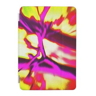 Capa Para iPad Mini Design do abstrato do rosa quente & do amarelo
