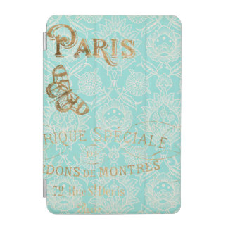Capa Para iPad Mini Design do ouro de Paris do vintage
