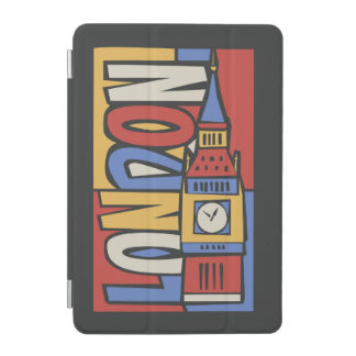 Capa Para iPad Mini Design vibrante de Londres, Inglaterra   Handrawn