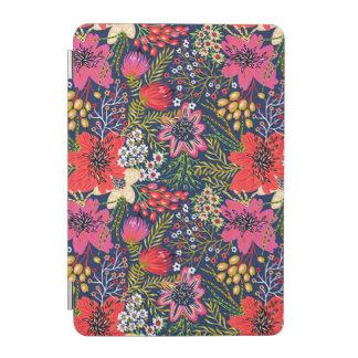 Capa Para iPad Mini Do iPad floral brilhante do teste padrão do