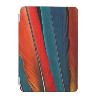 Capa Para iPad Mini Do Macaw escarlate de penas de cauda