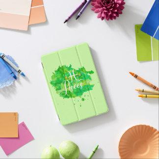 Capa Para iPad Mini Estrelas verdes do ouro da aguarela dos peixes do