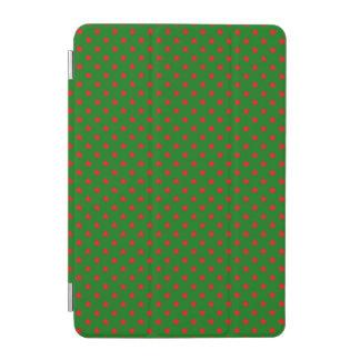 Capa Para iPad Mini Estrelas vermelhas no fundo do verde do Natal