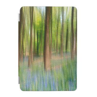 Capa Para iPad Mini Floresta BRITÂNICA do carvalho do Bluebell de