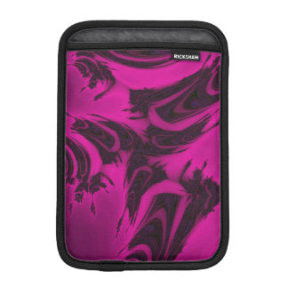 Capa Para iPad Mini Fractal cor-de-rosa e preto