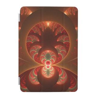 Capa Para iPad Mini Fractal moderno abstrato luminoso do vermelho