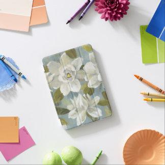 Capa Para iPad Mini Gardenias no azul da ardósia