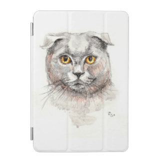 Capa Para iPad Mini Gato da dobra do Scottish