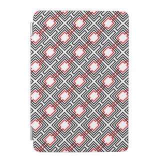 Capa Para iPad Mini Geométrico vermelho & branco preto