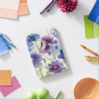 Capa Para iPad Mini Jardim misturado azul e roxo
