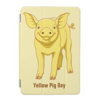 Capa Para iPad Mini Leitão bonito porco dia do 17 de julho amarelo