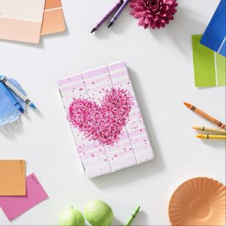 Capa Para iPad Mini Listra subtil dos confetes glamoroso cor-de-rosa