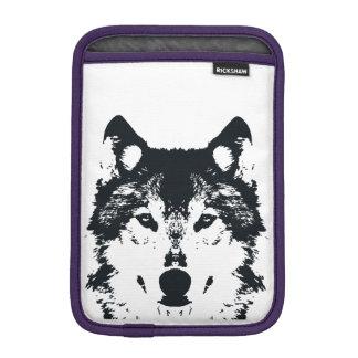 Capa Para iPad Mini Lobo preto da ilustração