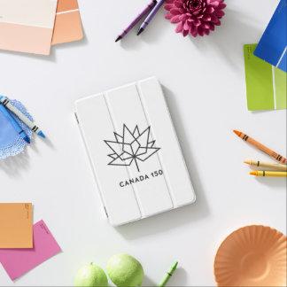 Capa Para iPad Mini Logotipo do oficial de Canadá 150 - esboço preto