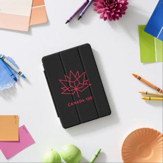 Capa Para iPad Mini Logotipo do oficial de Canadá 150 - preto e