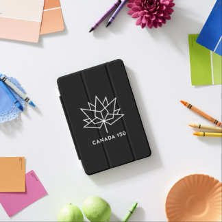Capa Para iPad Mini Logotipo do oficial de Canadá 150 - preto e branco